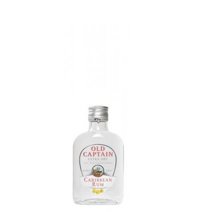 Old Captain Extra Dry Caribbean Rum White 37,5%vol 0,2l