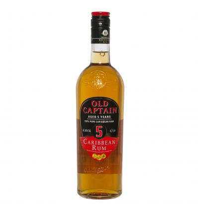Old Captain Caribbean Rum Aged 5 Years 40%vol 0,7L