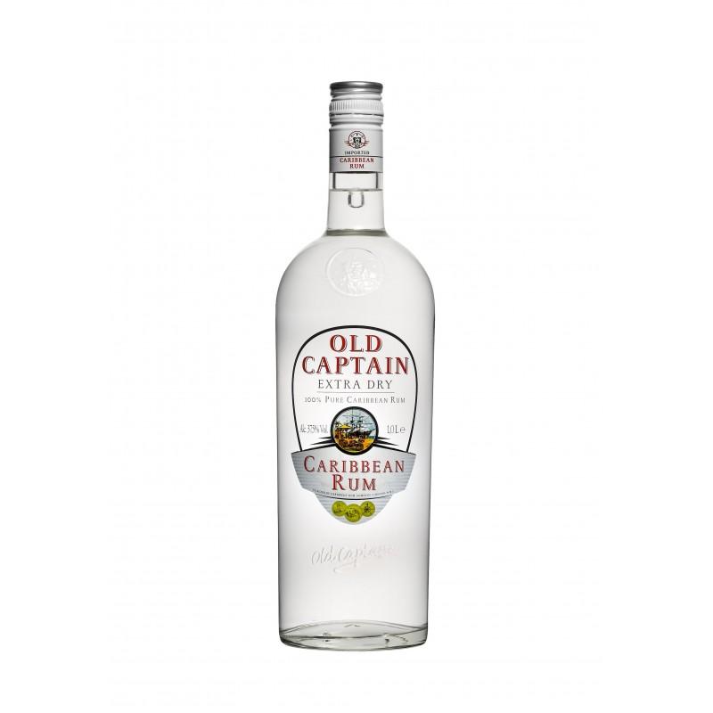 Old Captain Extra Dry Caribbean Rum 37.5%VOL 1.0L