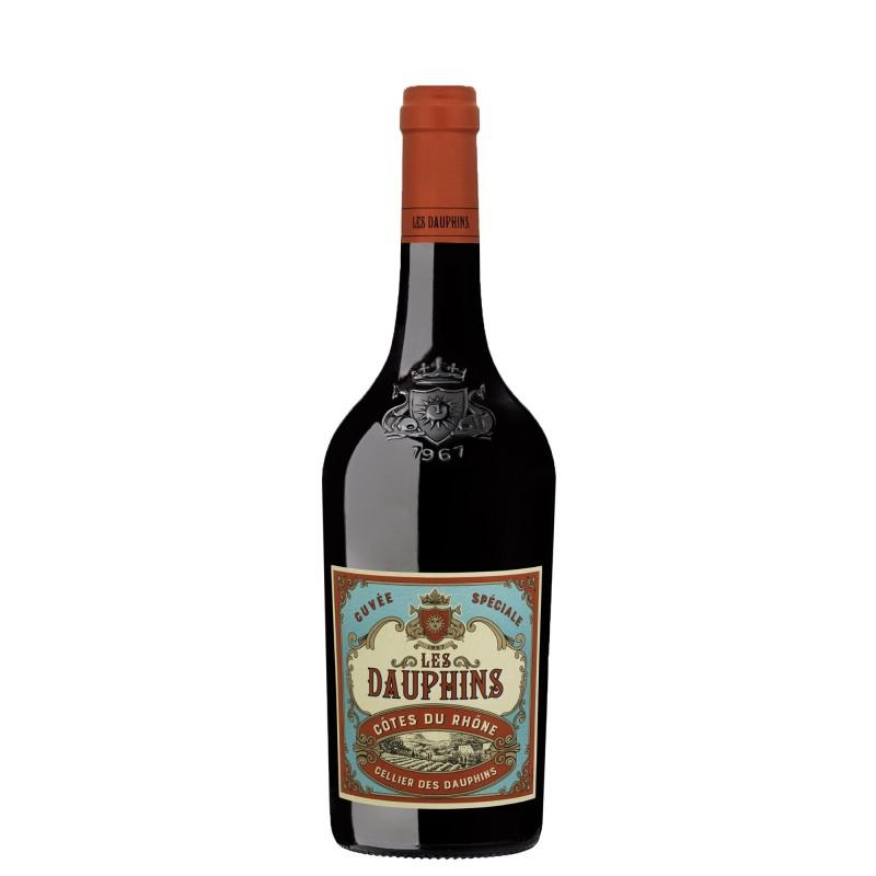 Les Dauphins Cotes du Rhone Reserve Rouge 14,0%vol 0,75L