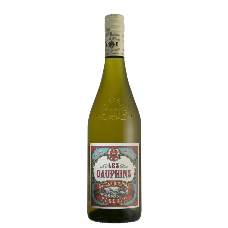 Les Dauphins Cotes du Rhone Reserve Blanc 13,0%vol 0,75L