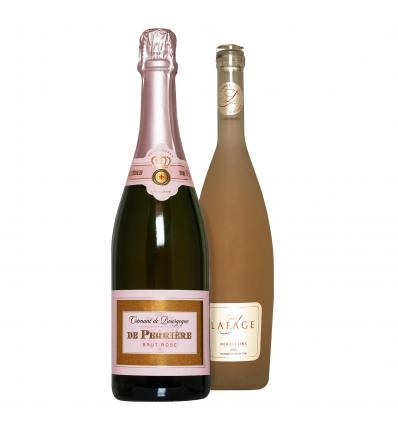 Duo! De Perriere Cremant De Bourgogne Brut Rose 12%VOL 0,75L + Lafage Miraflors Rose 12.5%VOL 0,75l