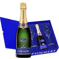 Champagne Pommery Royal Brut 12,5%vol 0,75L+ 2 klaasi kinkekarbis