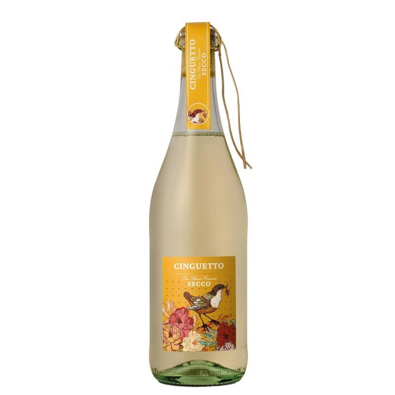 Abbazia Cinguetto Frizzante Vino Bianco Secco 10,5%vol 0,75L